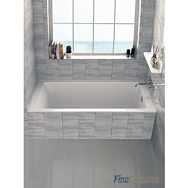 Fine Fixtures Alcove 30'' x 60'' Bathtub; Right