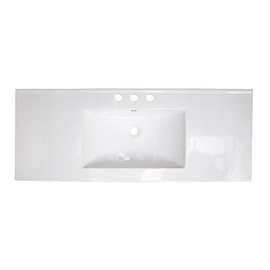 American Imaginations Drop-in 40'' Single Bathroom Vanity Top