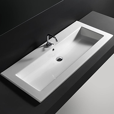 WS Bath Collections Self Rimming Bathroom Sink