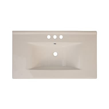 American Imaginations Drop-in 36'' Single Bathroom Vanity Top; Biscuit