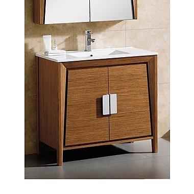 Fine Fixtures Imperial II 36'' Single Bathroom Vanity; Wheat