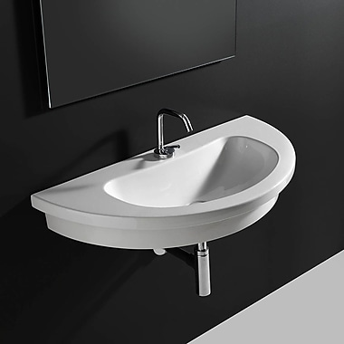WS Bath Collections Kart Ceramic 33.9'' Wall mount Bathroom Sink
