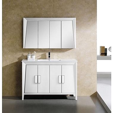 Fine Fixtures Imperial II 48'' Single Bathroom Vanity Set; White
