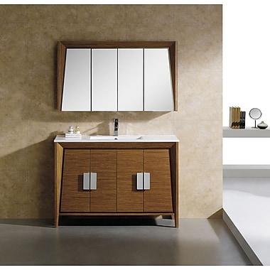 Fine Fixtures Imperial II 48'' Single Bathroom Vanity Set; Wheat