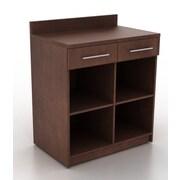 HPL Contract Modern Breakoom 39.63'' H x 35.88'' W Desk File Pedestal; Kona Walnut