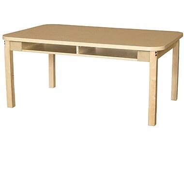Wood Designs Wood Adjustable Height Multi-Student Desk