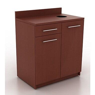 HPL Contract Modern Breakroom 39.63'' H x 35.88'' W Desk File Pedestal; Kona Walnut