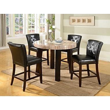 Roundhill Furniture Zanic 5 Piece Counter Height Dining Set