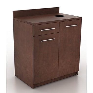 HPL Contract Modern Breakroom 39.63'' H x 35.88'' W Desk File Pedestal; Crown Cherry
