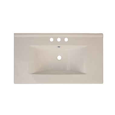 American Imaginations Drop-in 36'' Single Bathroom Vanity Top; Biscuit