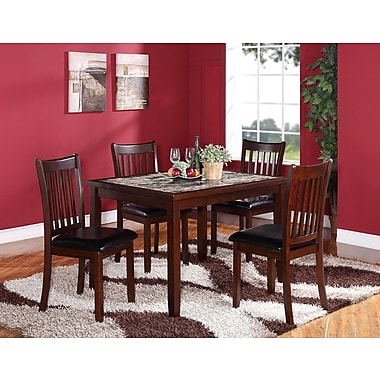 Roundhill Furniture Zoho 5 Piece Dining Set