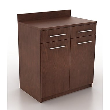 HPL Contract Modern Breakroom 39.63'' H x 35.88'' W Desk File Pedestal; Kona Walnut