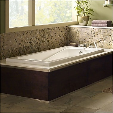 American Standard Green Tea 60'' x 36'' Soaking Bathtub; White