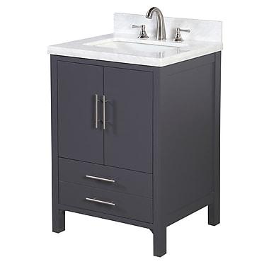KBC California 24'' Single Bathroom Vanity Set; Charcoal Gray