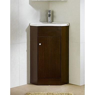 Fine Fixtures Englewood 22'' Single Bathroom Vanity Set; Wenge