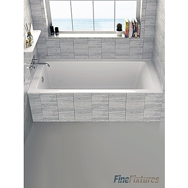 Fine Fixtures Alcove 32'' x 60'' Bathtub; Left