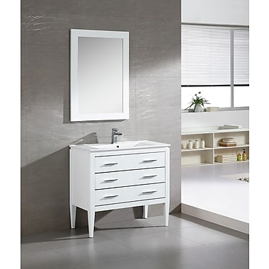 Fine Fixtures Ironwood 36'' Single Bathroom Vanity Set; White