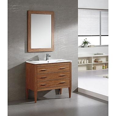 Fine Fixtures Ironwood 36'' Single Bathroom Vanity Set; Zebra