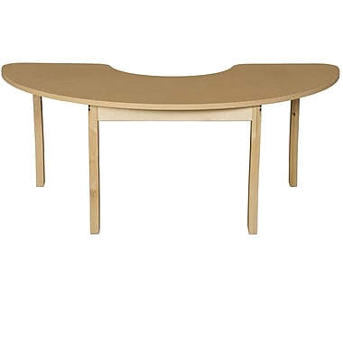 Wood Designs 76'' x 24'' Kidney Activity Table; 17'' H x 76'' W x 24'' D