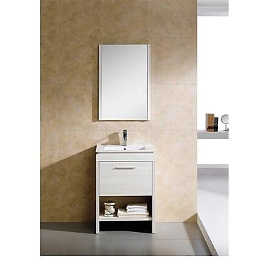 Fine Fixtures Modena 24'' Single Bathroom Vanity Set; Off-White Grain