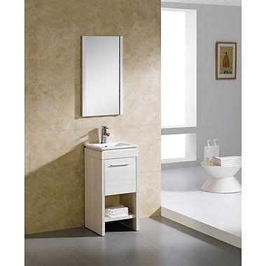 Fine Fixtures Modena 16'' Single Bathroom Vanity Set; Off-White Grain
