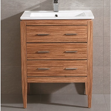 Fine Fixtures Ironwood 24'' Single Bathroom Vanity Set; Zebra