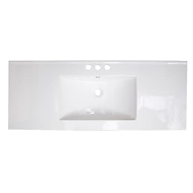 American Imaginations Alum Drop-in 48'' Single Bathroom Vanity Top