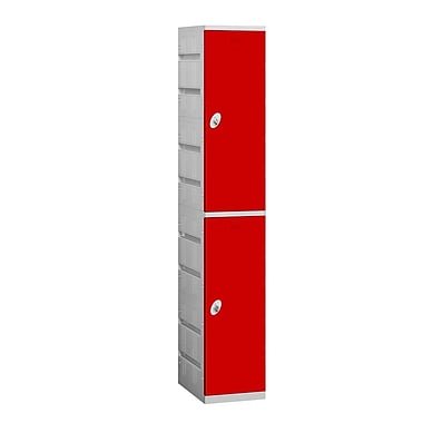 Salsbury Industries 2 Tier 1 Wide School Locker; Red