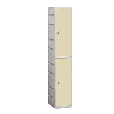 Salsbury Industries 2 Tier 1 Wide School Locker; Tan
