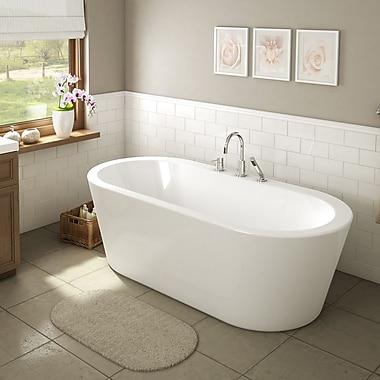 A&E Bath and Shower Una 71'' x 34'' Freestanding Soaking Bathtub