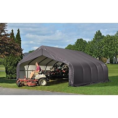 ShelterLogic 18 Ft. W x 28 Ft. D Garage; Grey