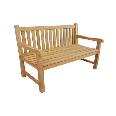 D-Art Collection Riverside Teak Garden Bench; 60''