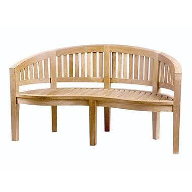 D-Art Collection Island Teak Wood Garden Bench; 59''