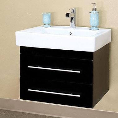 Bellaterra Home Pickering 25'' Single Wall-Mounted Bathroom Vanity Set