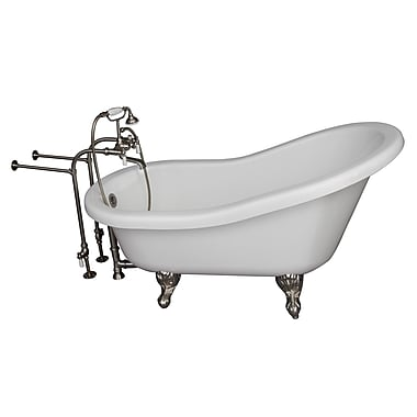 Barclay 67'' x 30'' Soaking Bathtub Kit; Brushed Nickel