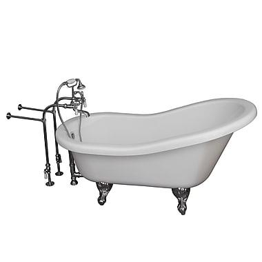 Barclay 67'' x 30'' Soaking Bathtub Kit; Chrome