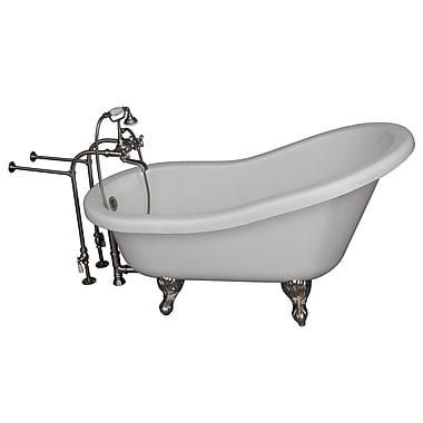Barclay 67'' x 29.5'' Soaking Bathtub Kit; Brushed Nickel