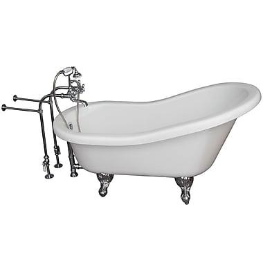 Barclay 67'' x 29.5'' Soaking Bathtub Kit; Chrome
