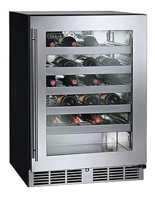Perlick 40 Bottle Single Zone Built-In Wine Cooler; Left