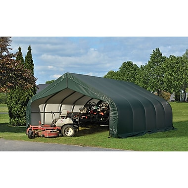 ShelterLogic 18 Ft. x 24 Ft. Garage; Green