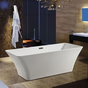 AKDY 66.93'' x 31.5'' Soaking Bathtub
