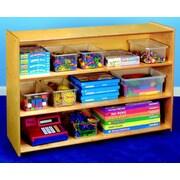 Childcraft Open Shelving Unit w/ Casters; 36'' H x 48'' W x 14.5'' D