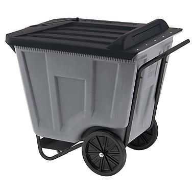 Akro Mils 90 Gallon Trash Bin; Gray