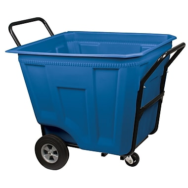 Akro Mils 90 Gallon Trash Bin; Blue