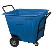 Akro Mils 90 Gallon Trash Bin; Blue