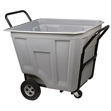 Akro Mils 90 Gallon Trash Bin; Gray