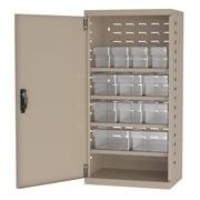 Akro Mils 38''H x 19.25''W x 13.25''D 12 Drawer Storage Cabinet; Putty/Clear