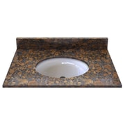 Sagehill Natural Stone 31'' Single Bathroom Vanity Top; Sable Brown