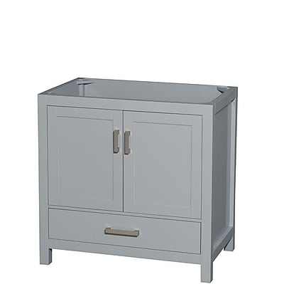 Wyndham Collection Sheffield 60'' Double Bathroom Vanity Base; Gray