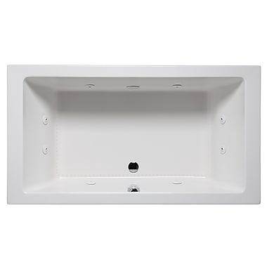 Americh Vivo 66'' x 42'' Drop in Whirlpool Bathtub; White